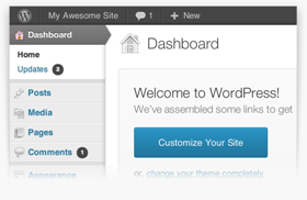 A WordPress Dashboard